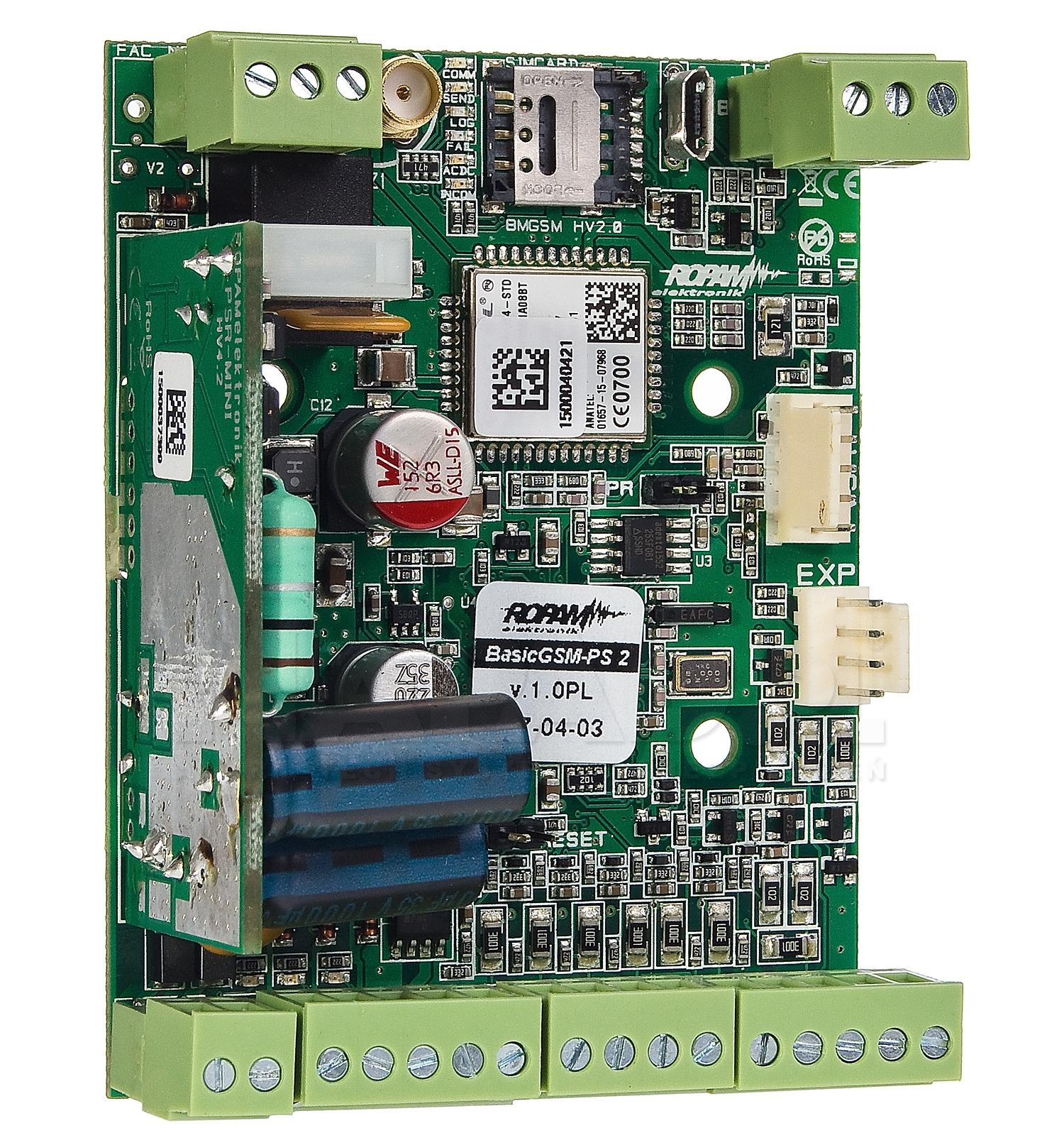 Ropam BasicGSM-PS 2 moduł powiadomienia, sterowania, sms, gprs, mail